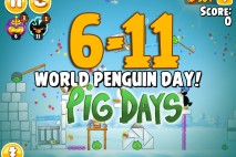 Angry Birds Seasons The Pig Days Level 6-11 Walkthrough | World Penguin Day!