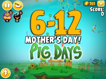 Angry Birds Seasons The Pig Days Level 6-12