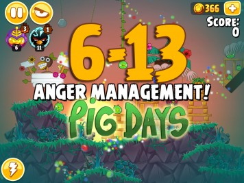 Angry Birds Seasons The Pig Days Level 6-13
