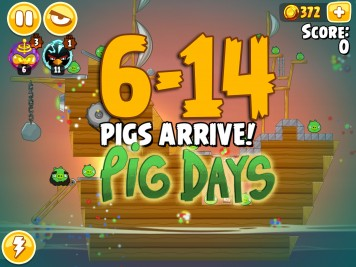 Angry Birds Seasons The Pig Days Level 6-14