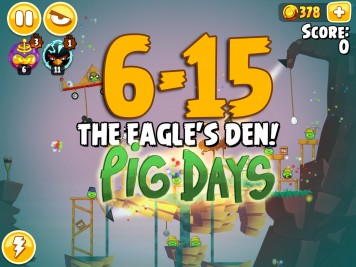 Angry Birds Seasons The Pig Days Level 6-15