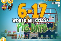 Angry Birds Seasons The Pig Days Level 6-17 Walkthrough | World Milk Day!