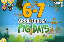Angry Birds Seasons The Pig Days Level 6-7 Walkthrough | April Fools!