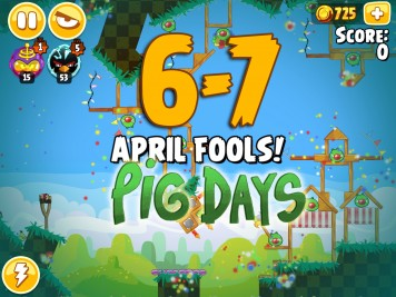 Angry Birds Seasons The Pig Days Level 6-7