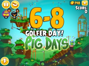 Angry Birds Seasons The Pig Days Level 6-8