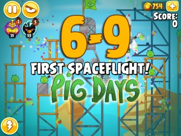Angry Birds Seasons The Pig Days Level 6-9