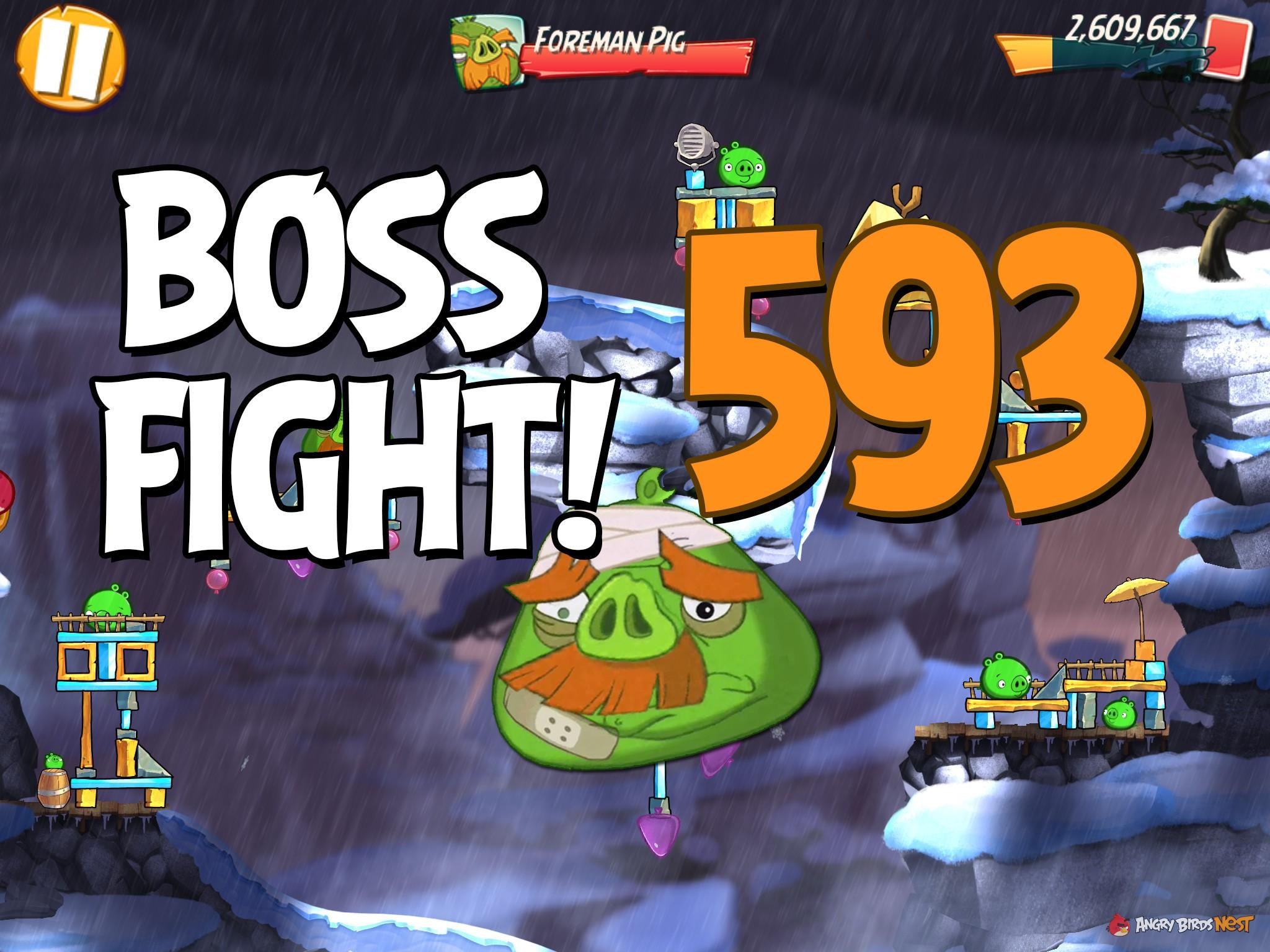 Angry Birds 2 Boss Fight Level 593 Walkthrough – Cobalt Plateaus The  Hamalayas | AngryBirdsNest