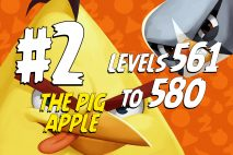 Angry Birds 2 Levels 561 to 580 The Pig Apple 3-Star Walkthrough – Pig City
