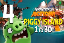 Angry Birds Action! Levels 1 to 30 – Piggy Island Walkthroughs