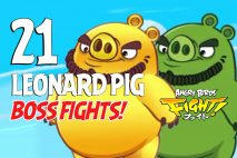 Angry Birds Fight! Leonard Pig BOSS FIGHTS!