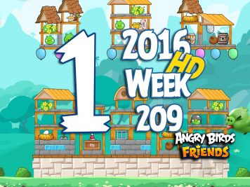 Angry Birds Friends Tournament Level 1 Week 209 Walkthrough   May 19th 2016