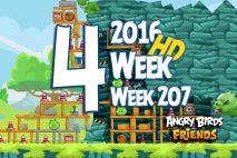 Angry Birds Friends 2016 Tournament Level 4 Week 207 Walkthrough