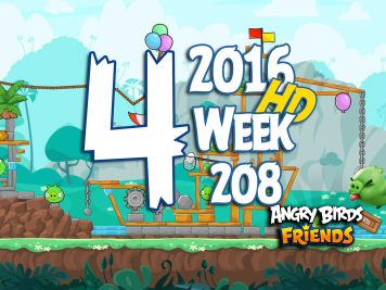 Angry Birds Friends Tournament Level 4 Week 208 Walkthrough   May 12th 2016