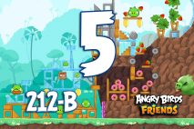 Angry Birds Friends 2016 Tournament 212-B Level 5 Walkthroughs