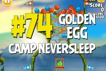"Angry Birds Seasons Summer Camp ""Camp Neversleep"" Golden Egg #74 Walkthrough"