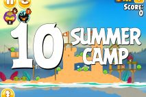 Angry Birds Seasons Summer Camp Level 1-10 Walkthrough