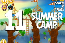 Angry Birds Seasons Summer Camp Level 1-11 Walkthrough