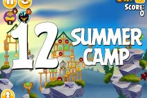 Angry Birds Seasons Summer Camp Level 1-12 Walkthrough