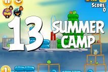 Angry Birds Seasons Summer Camp Level 1-13 Walkthrough
