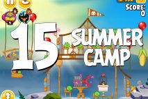 Angry Birds Seasons Summer Camp Level 1-15 Walkthrough