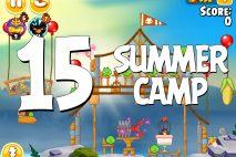 Angry Birds Seasons Summer Camp Level 1-15 Walkthrough