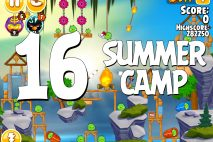Angry Birds Seasons Summer Camp Level 1-16 Walkthrough