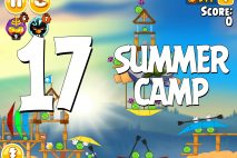 Angry Birds Seasons Summer Camp Level 1-17 Walkthrough