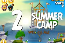 Angry Birds Seasons Summer Camp Level 1-2 Walkthrough