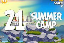 Angry Birds Seasons Summer Camp Level 1-21 Walkthrough