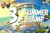 Angry Birds Seasons Summer Camp Level 1-3 Walkthrough