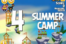 Angry Birds Seasons Summer Camp Level 1-4 Walkthrough