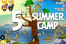 Angry Birds Seasons Summer Camp Level 1-5 Walkthrough