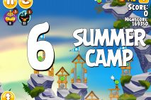 Angry Birds Seasons Summer Camp Level 1-6 Walkthrough