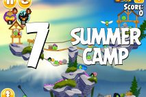 Angry Birds Seasons Summer Camp Level 1-7 Walkthrough