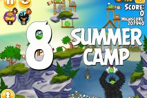 Angry Birds Seasons Summer Camp Level 1-8 Walkthrough