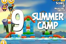 Angry Birds Seasons Summer Camp Level 1-9 Walkthrough