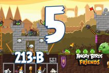 Angry Birds Friends 2016 Knights of the Golden Egg Tournament 213-A Level 5 Walkthroughs