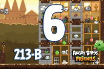 Angry Birds Friends 2016 Knights of the Golden Egg Tournament 213-A Level 6 Walkthroughs