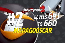 Angry Birds 2 Levels 641 to 660 Madagooscar 3-Star Walkthrough – Bamboo Forest