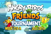 Angry Birds Friends 2016 Tournament 219-A On Now!