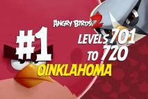 Angry Birds 2 Levels 701 to 720 Oinklahoma 3-Star Walkthrough – Pig City