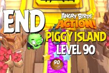 Angry Birds Action! Level 90 – Piggy Island – GAME COMPLETED!!!