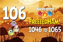 Angry Birds POP! Levels 1046 to 1065 – FreeeedHam! Walkthroughs