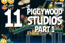 Angry Birds Seasons Piggywood Studios, Part 1! Level 1-11 Walkthrough
