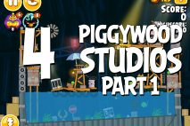 Angry Birds Seasons Piggywood Studios, Part 1! Level 1-4 Walkthrough