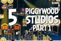 Angry Birds Seasons Piggywood Studios, Part 1! Level 1-5 Walkthrough