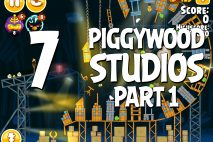 Angry Birds Seasons Piggywood Studios, Part 1! Level 1-7 Walkthrough
