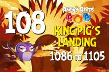 Angry Birds POP! Levels 1086 to 1105 – King Pig's Landing Walkthroughs