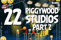 Angry Birds Seasons Piggywood Studios, Part 2! Level 2-22 Walkthrough