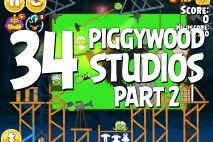 Angry Birds Seasons Piggywood Studios, Part 2! Level 2-34 Walkthrough